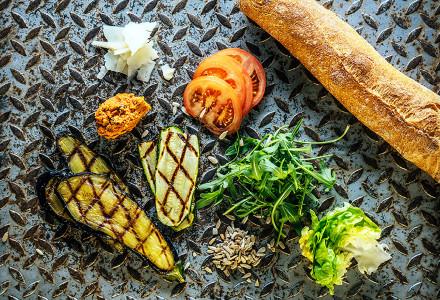 Sandwich légumes grillés